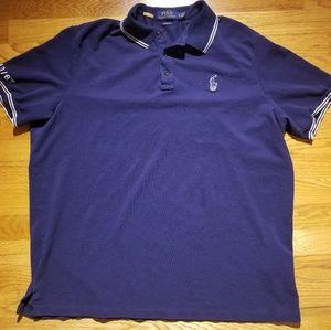POLO RALPH LAUREN Navy Blue Short Sleeve Polo